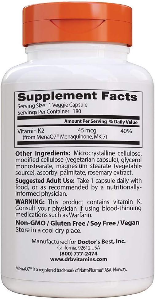 250 Tabletten VITAMIN K2 á 200µg Menaquinon-7 MK-7 Vegan No Kapseln 200mcg