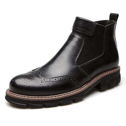 Botines Hombre Otoño Lace Up Botas Cuero Suave Retro Zapato de Trabajo - GENBOOTS: Amazon.es: Zapatos y complementos