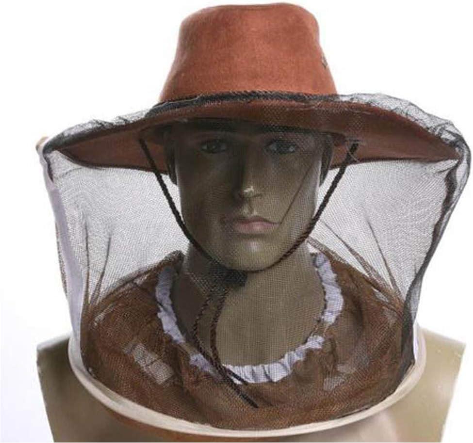 KINJOHI Moskito Kopf Netz Mesh Schutzh/ülle Maske Gesicht Anti-Moskito Biene Bug Insekt Fliegen Maske Hut f/ür Bienenzucht Imker Outdoor Angeln Insektenschutz Netting