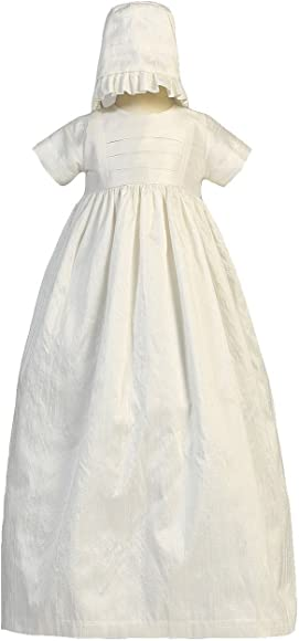 36d514add Silk Heirloom Gown with Two Hats (Boy and Girl) Christening Baptism Special  Occasion Family