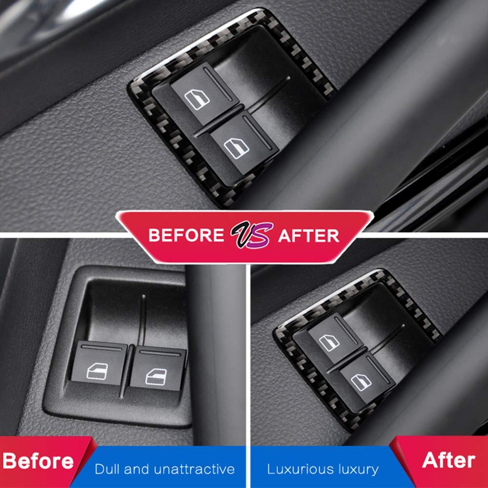 LUVCARPB Car Interior Window Lifter Control Frame Window Switch Decor Bracciolo Pannello Trim Accessori Interni Auto Adatto per Volkswagen Scirocco 2009-2016