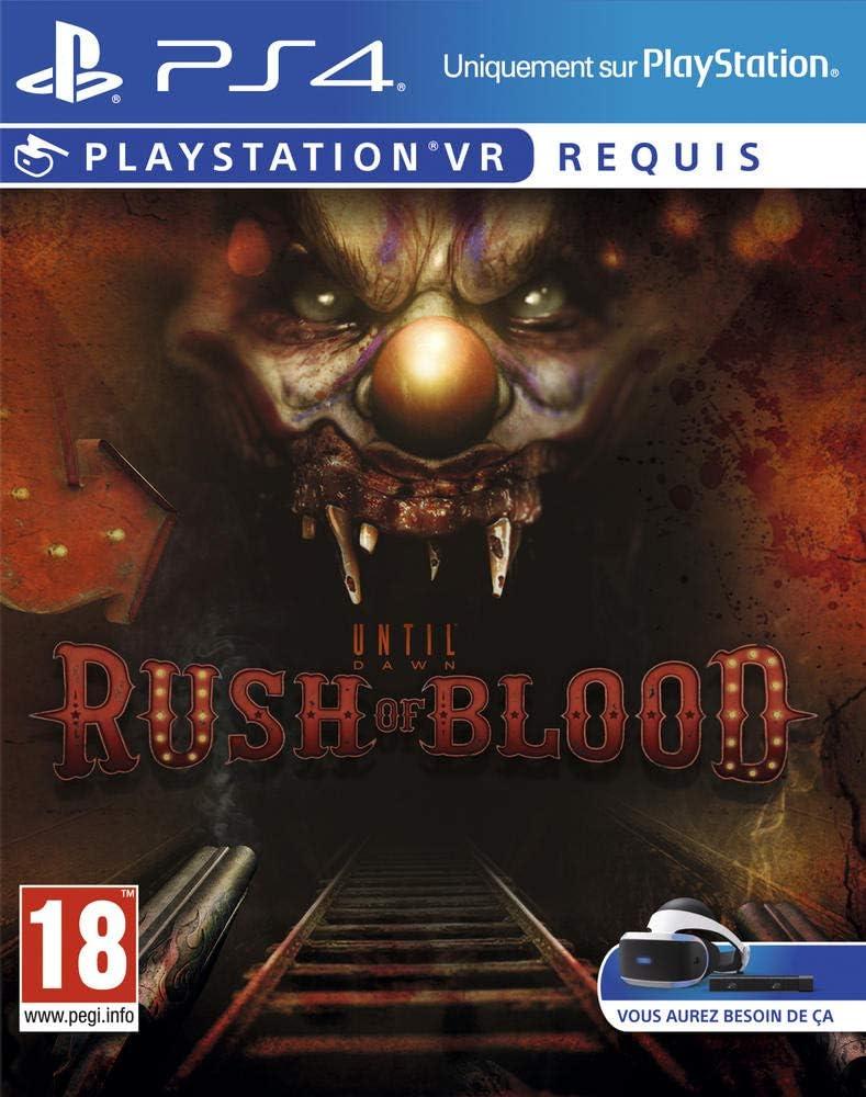 Sony Until Dawn: Rush of Blood VR, PS4 Básico PlayStation 4 Francés vídeo - Juego (PS4, PlayStation 4, Supervivencia / Horror, M (Maduro), Se requieren auriculares de realidad virtual (VR)): Amazon.es: Videojuegos