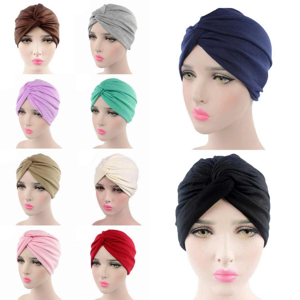 COMVIP Womens Swim Bathing Turban Head Cover Hat Chemo Cancer Cap COMVIP18327CY206