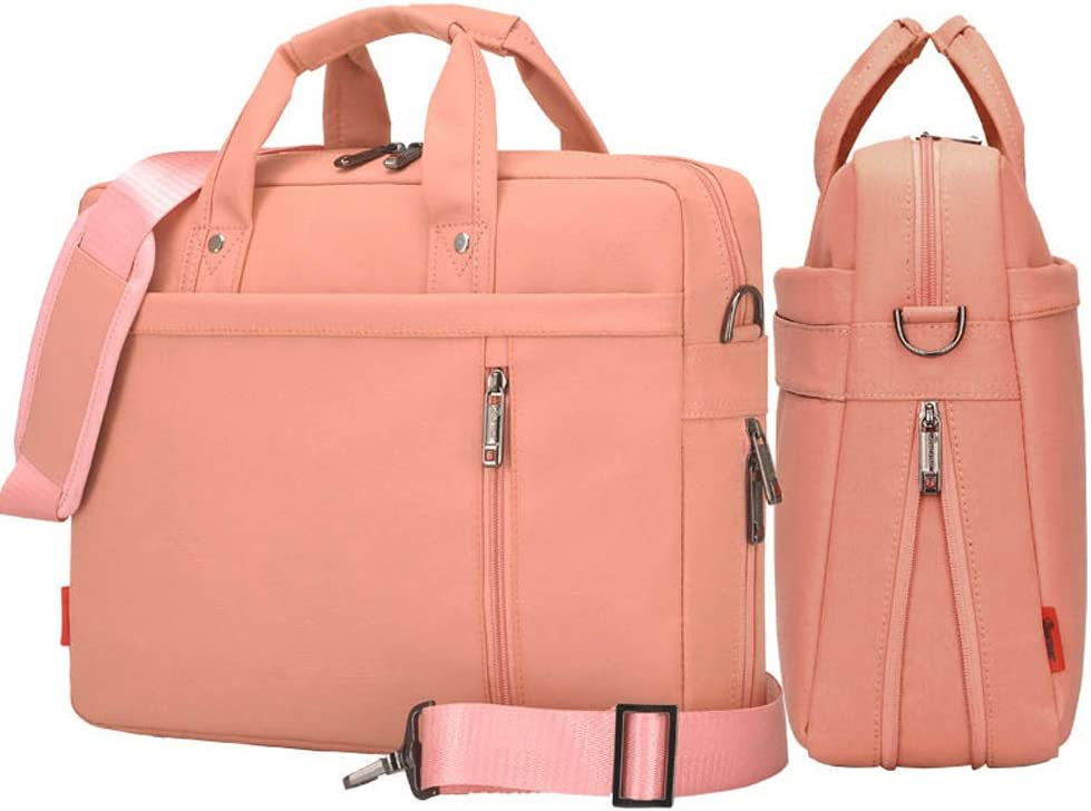YIYINOE Shoulder Bag for 13 inch Laptop Business Briefcase Waterproof Messenger Bags Pink