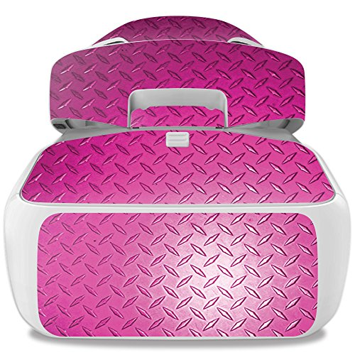 Skin For DJI Goggles – Pink Diamond Plate | MightySkins Protective, Durable, and Unique Vinyl Decal wrap cover | Easy To Apply, Remove, and Change Styles | Made in the USA