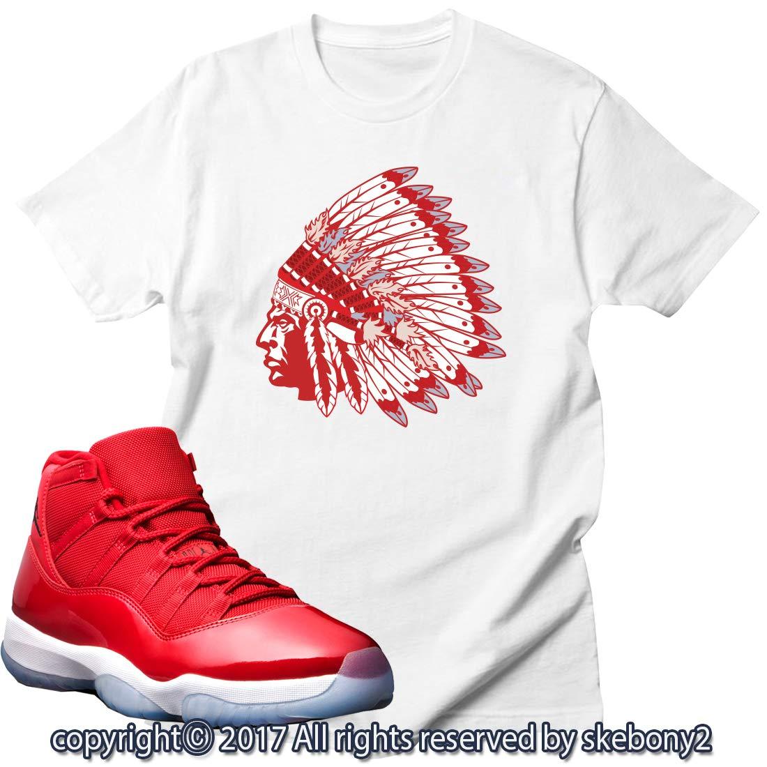e32be8cef42b Custom T Shirt Matching AIR Jordan 11 Win Like 96 Matching TEE Bulls red JD-