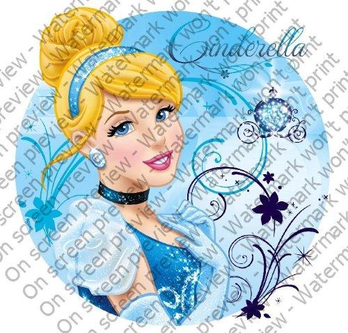 "3"" Round ~ Cinderella Blue Sparkle Birthday ~ Edible Image Cake/Cupcake Topper!!!"