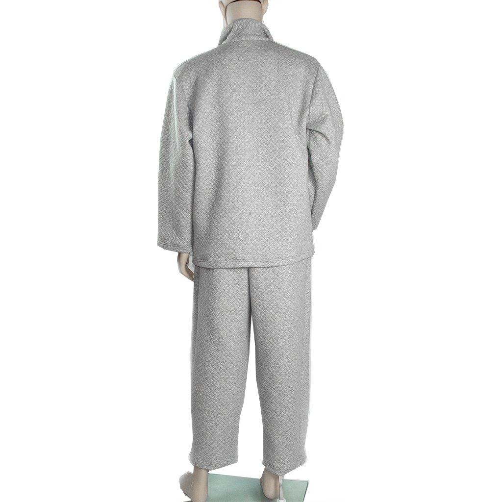 MagiDeal Patient Clothes Hospital Chemo Nursing Tops Elastic Waist Pants Medication Aids - XL