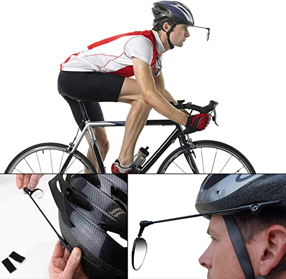 Bicycle Cycling Riding Mirror Helmet Mount Rearview Mirror Rear Eyeglass J6Q0