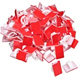 Akstore 100 PCS Adhesive Cable Clips Self-Adhesive Wire Clips Cable Wire Management Wire Cable Holder Clamps Cable Tie Holder