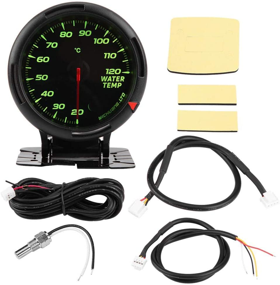 12V 64 Color Water Temperature Gauge Kit Keenso 20-120 ℃ Water Thermometer w//Sensor NPT1//8  For Auto Car Racer Truck