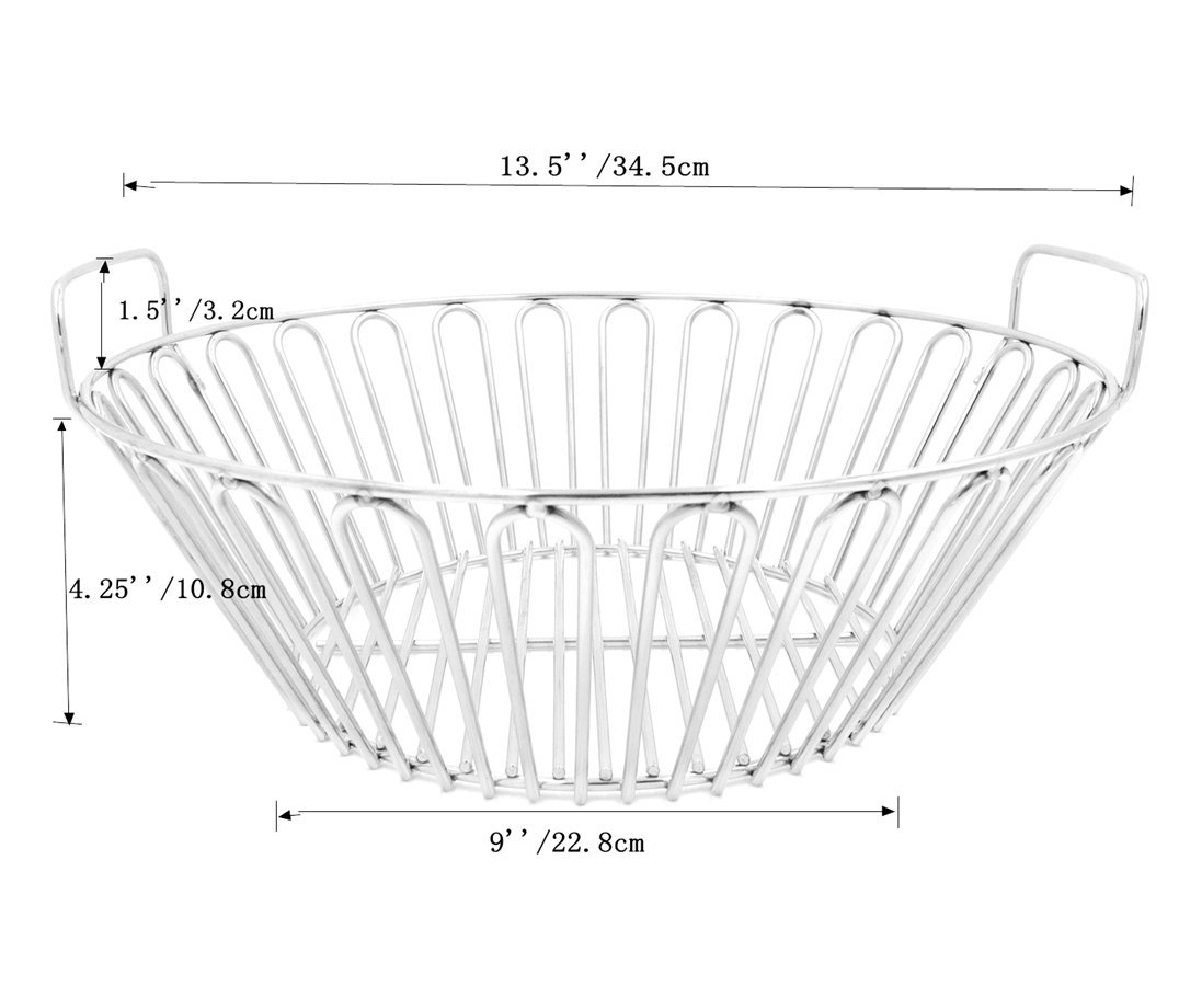 RunTo 13 5 inch Charcoal Ash Basket Fits for Large Big Green