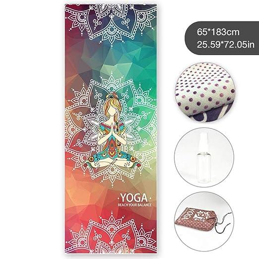 EZIZB Toalla de yoga, microfibra antideslizante Toalla de ...
