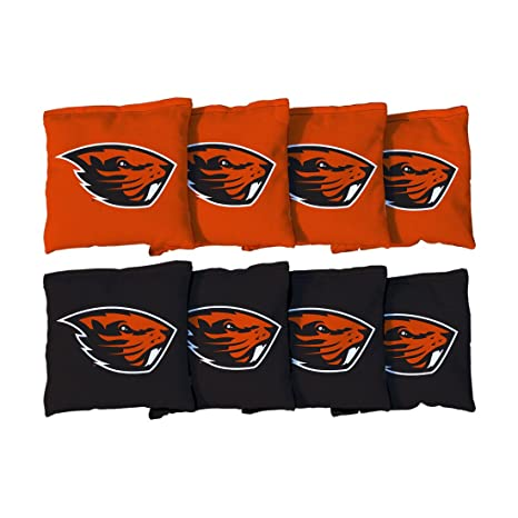 Mount Union Purple Raiders Victory Tailgate NCAA Collegiate Regulation Cornhole Game Bag Set 8 Bags Included, Corn-Filled