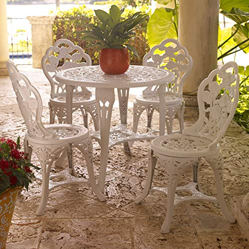 BrylaneHome Bistro Set with 5-Pcs. - White
