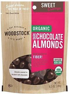 product image for Woodstock Farms Organic Dark Chocolate Almonds - 7 oz