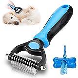 KAYI Dematting Dog Brush, Pet Grooming Brush for Dogs & Cats. Undercoat Rake Tangles Removing Deshedding Shedding Brush for Long Hair Large Dog