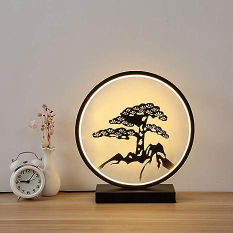 LED décoration prune salon canapé table basse lampe de ...