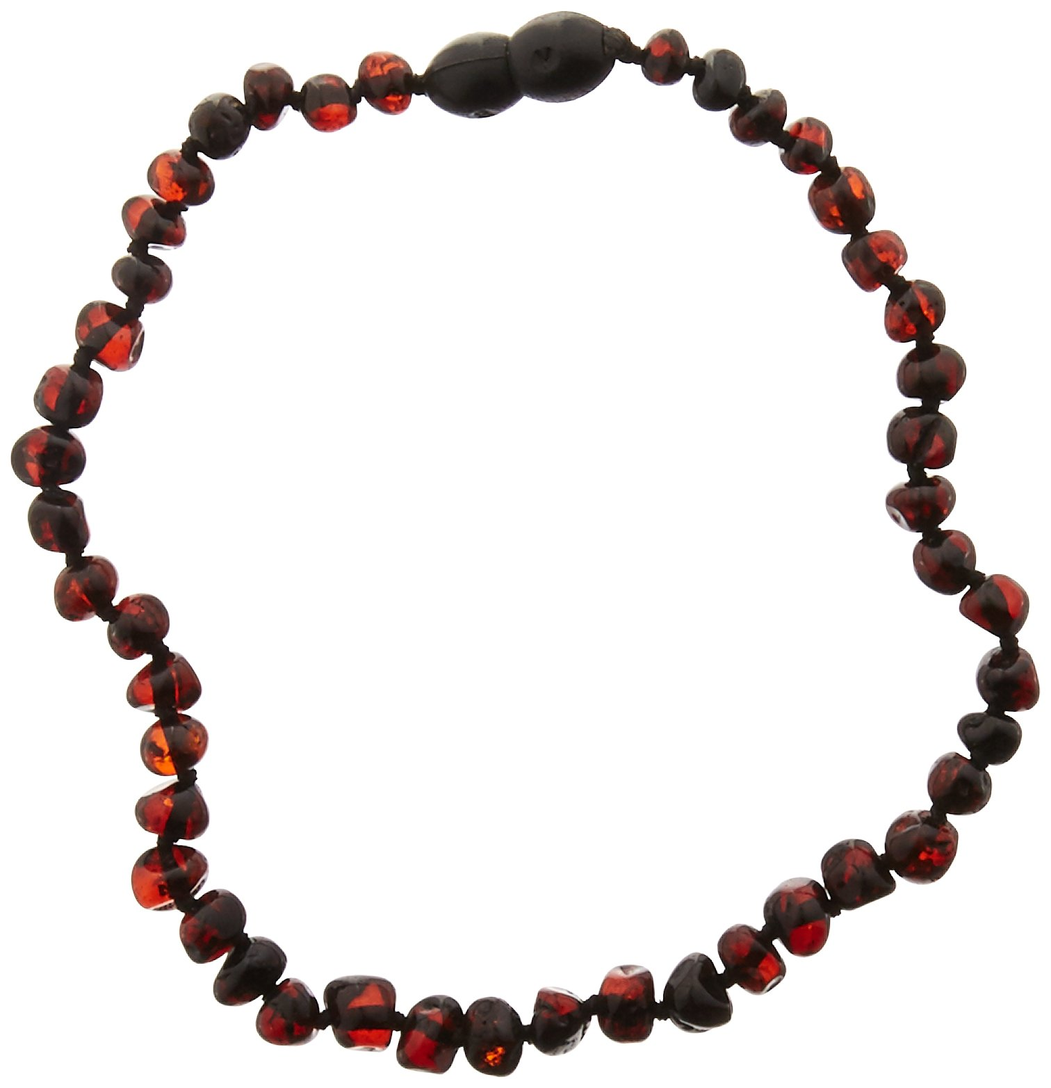 Momma Goose Baroque Teething Necklace, Dark Cherry, Small/11-11.5''