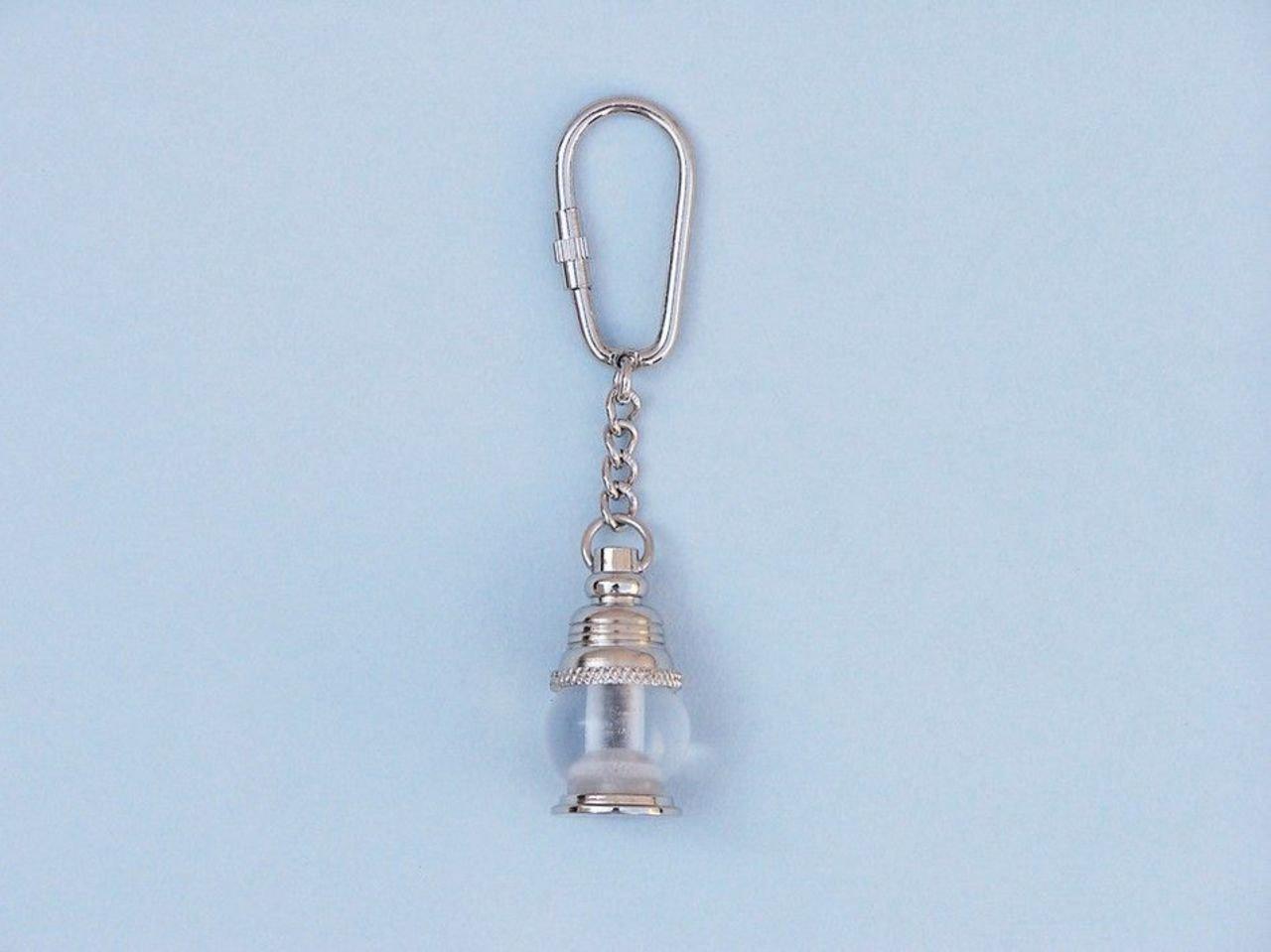 Key Chain Oil lamp Chrome Keyring Hampton Nautical K-290-CH Chrome Oil lamp Key Chain 5