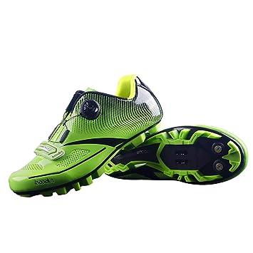 WeeLion Zapatillas de Ciclismo Antideslizantes para Bicicletas, Zapatillas de Seguridad Profesionales Transpirables, Ligeras y Resistentes al Desgaste, ...