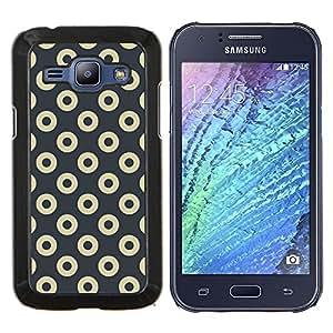 - Doughnuts Grey Pattern Minimalist - Caja del tel????fono delgado Guardia Armor- For Samsung Galaxy J1 J100 J100H Devil Case