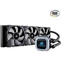 CORSAIR Hydro Series H150i PRO RGB AIO Liquid CPU Cooler, 360mm Radiator, Triple 120mm ML Series PWM Fans, Advanced RGB Lighting and Fan Software Control
