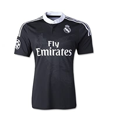Marex Men s Real Madrid Black Football Soccer Jersey Large Size Ronaldo  Written at The Back 667280e7a
