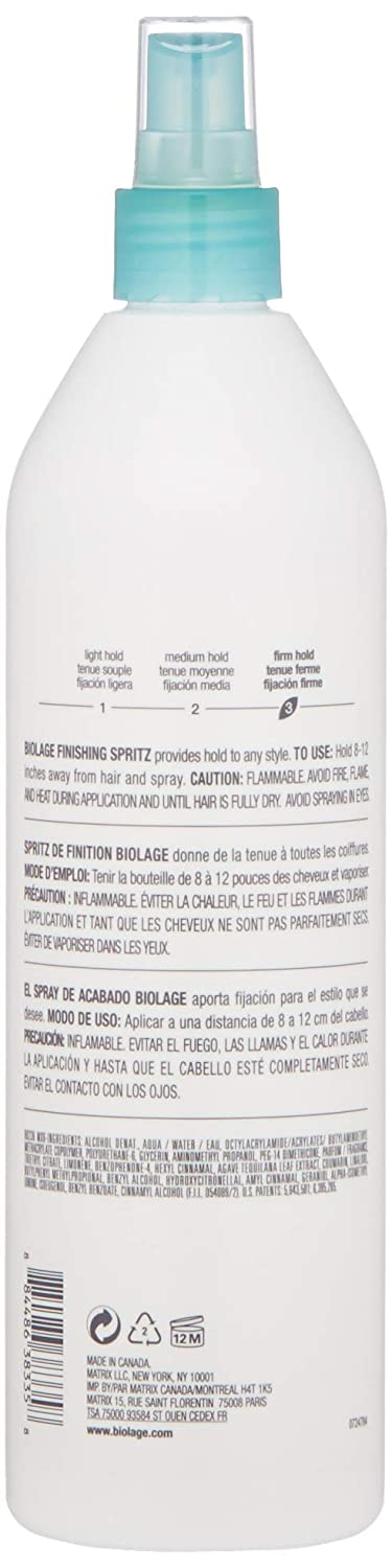 BIOLAGE Styling Finishing Spritz Non-Aerosol Hairspray   Texturizing Hairspray That Locks Style In Place   Firm Hold   Paraben-Free   For All Hair Types  16.9 Fl Oz.: Premium Beauty