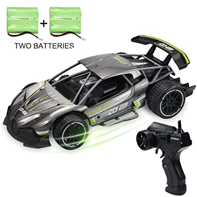 JDBABY Remote Control Car for Boys 1:16 Scale 2.4Ghz High-Speed Racing RC Car with 2 Rechargeable Batteries, Birthday Gift for Kids: Manufacturer: Toys & Games