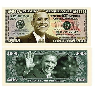 American Art Classics Pack of 5 - Barack Obama 2008-2016 Commemorative Dollar Bills - Collectible Novelty Million Dollar Bills - Best Gift for Obama Fans: Toys & Games
