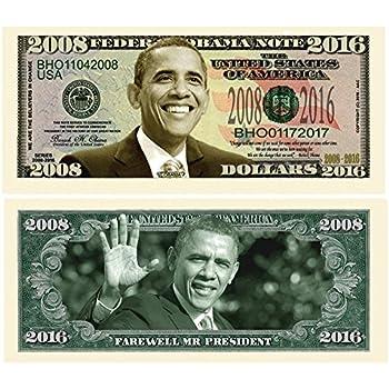 Amazon Com Set Of 25 Bills Barack Obama 44 Dollar Novelty