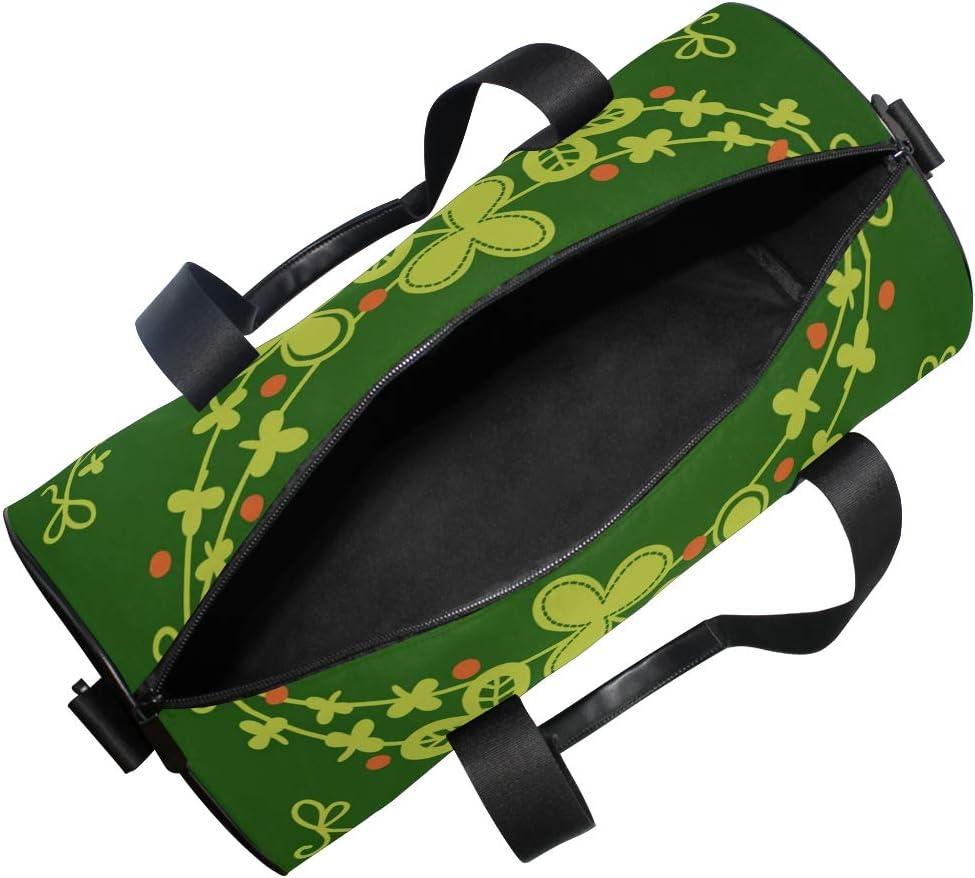 MALPLENA Holiday Garlands Drum gym duffel bag women Travel Bag