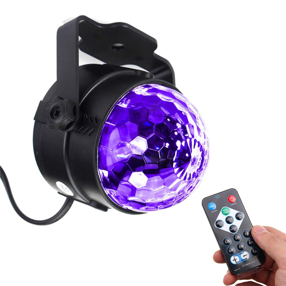 ZHENWOFC ZHENWOFC ZHENWOFC 3W UV lila LED Stage Light selbstfahrend sprachaktiviert Flashing Crystal Ball Party Disco Club Innenlicht (Farbe   AU plug) B07N52R97Q | München  7356ea