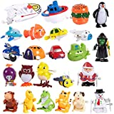 Blue Panda 24-Pack Wind-Up Toys for Kids - Party Favors for Kids Birthday Party Bags, Novelty Prizes, Children, Christmas, Secret Santa Gift Ideas, Goody Bags, Assorted Designs