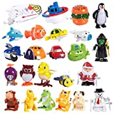 24-Pack of Wind-Up Toys for Kids - Party Favors for Kids Birthday Party Bags, Novelty Prizes, Goody Bags, Assorted Designs