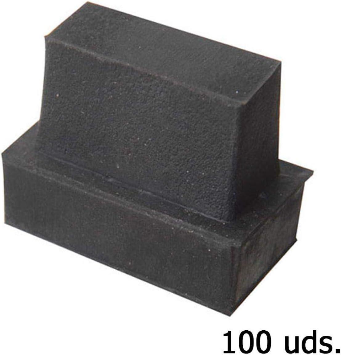 WOLFPACK LINEA PROFESIONAL 5330060 Contera Goma Rectangular 28 x 13 mm Bolsa 100 Unidades