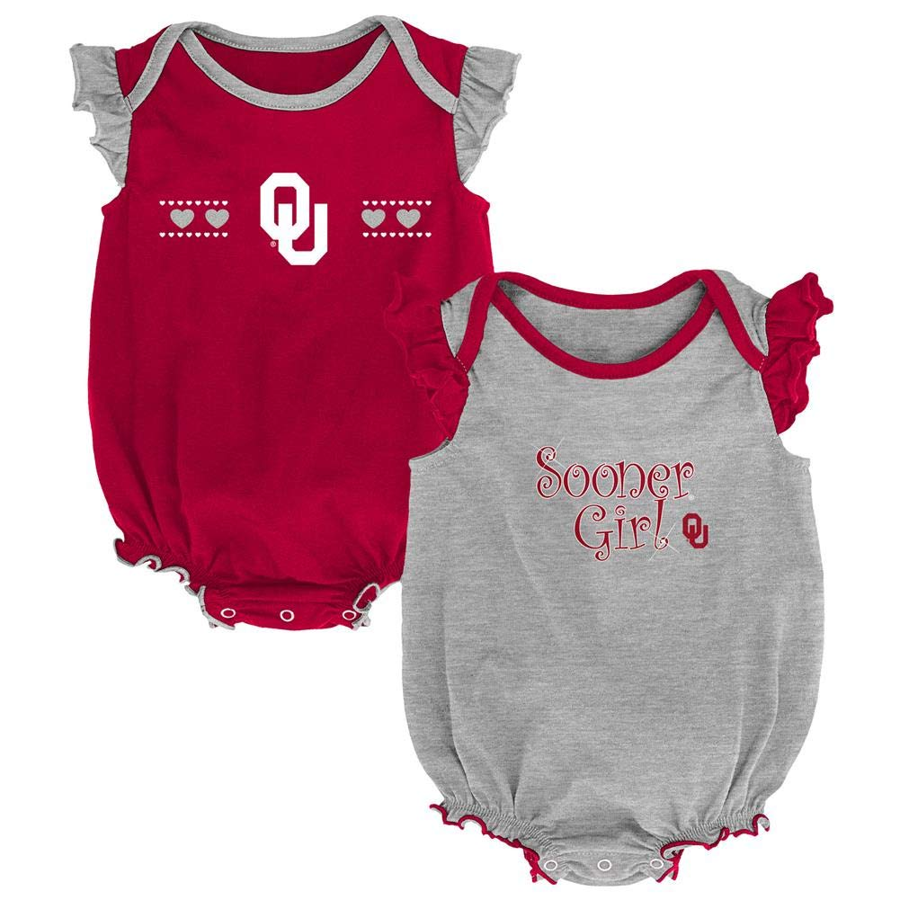 Outerstuff University of Oklahoma Sooners Creeper 2 Pack Homecoming Bodysuit Set