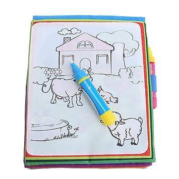 Amazon.com: Leyeet - Cuaderno mágico de dibujo de agua, para ...