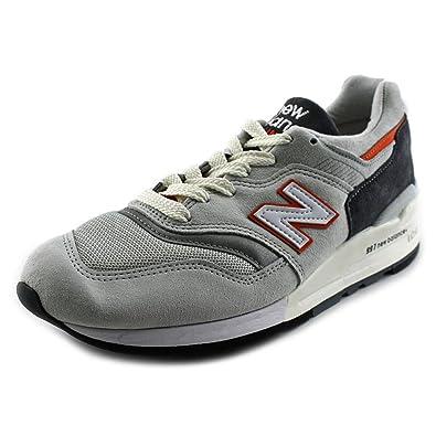 bc34c5437b8eb Amazon.com | New Balance Men's M997 CSEA Made in U.S.A. 'Connoisseur Pack'  Shoe (7 D(M) US, M997CSEA-GREY Orange White) | Fashion Sneakers