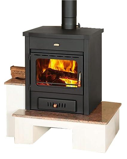 Alta eficiencia moderno Multi combustible chimenea estufa de leña Prity MB