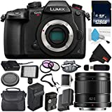 Panasonic Lumix DC-GH5S Mirrorless Micro Four Thirds Digital Camera International Version (No Warranty) + Panasonic Lumix G 42.5mm Lens (International Version) + 128GB Class 10 Memory Card Bundle