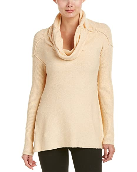 833277aba4 Free People Womens Boucle Cowl Neck Pullover Sweater Beige M at ...