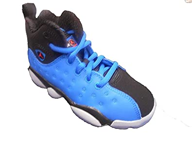 1885b400b49400 ... where to buy jordan jumpman team ii premium blue spark total crimson  black little kid ce1c4