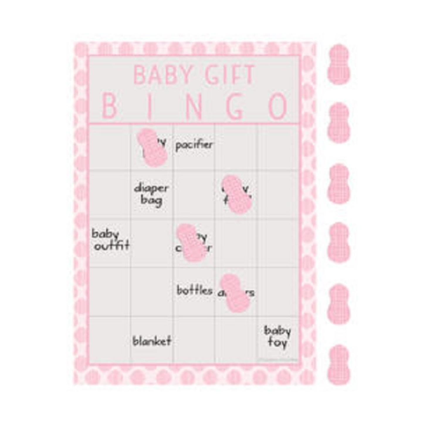 Christmas Central Pack of 60 Pink and Gray Little Peanut Baby Gift Girl Baby Shower Bingo Game 8.5''