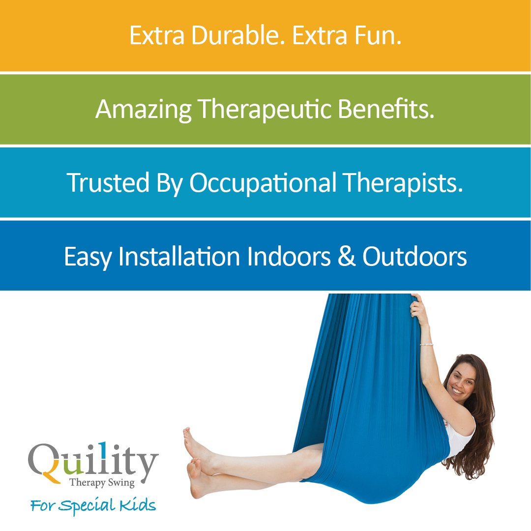 Amazon.com: Quility Indoor Therapy Swing for Kids with Special Needs ...
