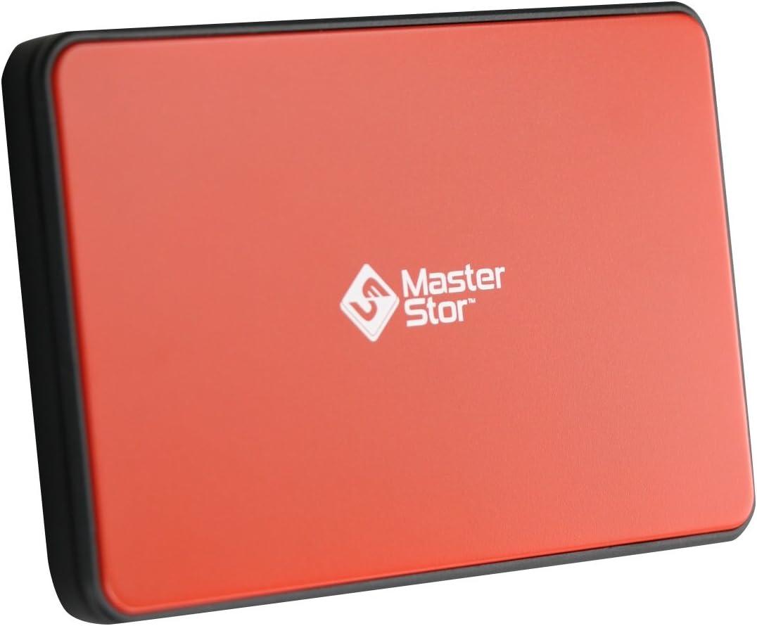 500GB MasterStor 500GB Externe Festplatte USB 3.0 Ultra schnelle Festplatten 2,5-Zoll-Portable SATA Notebook Hard Drive rot