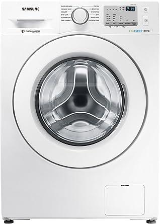 Samsung 8 kg Fully-Automatic Front Loading Washing Machine (WW80J4213KW/TL, White)