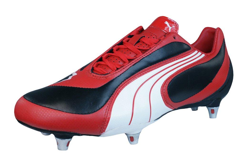PUMA V3.08 SG Mens Leather Soccer Boots/Cleats B06XXGDX93 8 D(M) US|Black