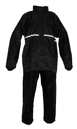 Protectwear RK-RS-11-XL Traje de Lluvia para Motocicleta, Negro, Talla XL